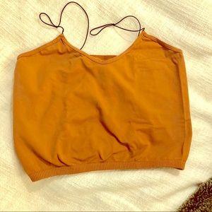 Free People Orange Brown Cami M/L